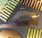 Auch hochreflektive Materialien wie z.B. Kupfer, Messing und Bronze lassen sich bearbeiten.